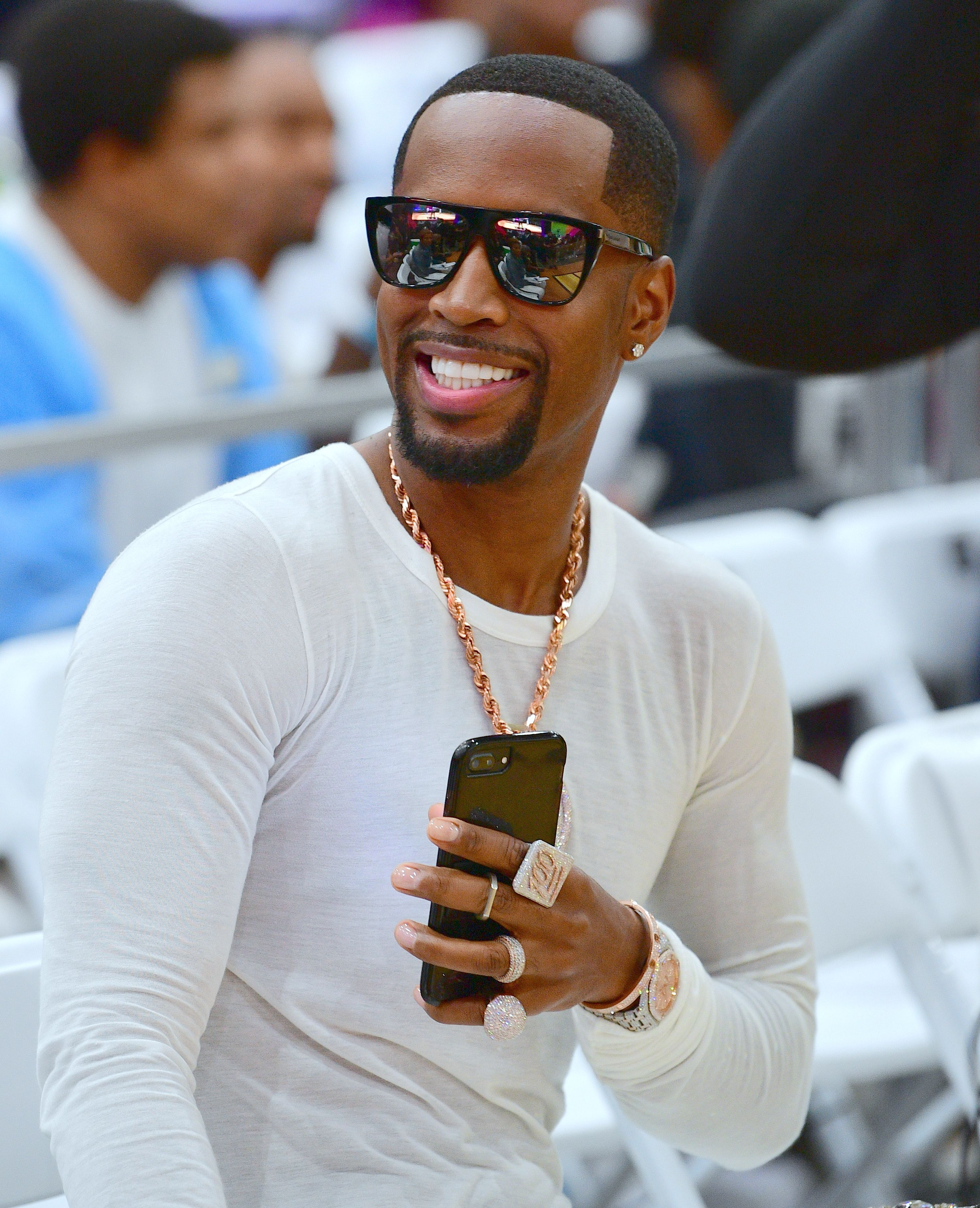 Safaree Samuels at the celebrity basketball game during the 2018 BET Experience at the Los Angeles Convention Center on June 23, 2018 | Photo: Getty Images