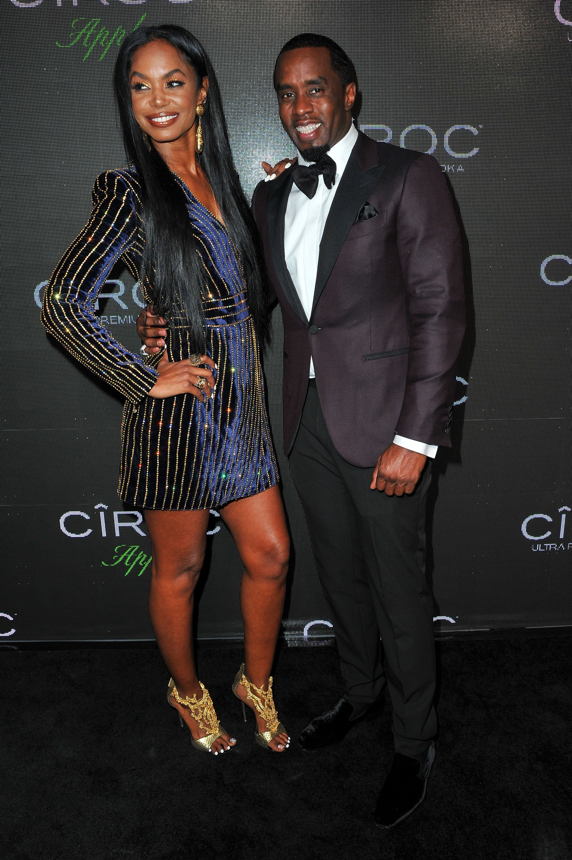 Kim Porter and Diddy during a birthday celebration for the rapper in 2015. | Photo: Getty Images