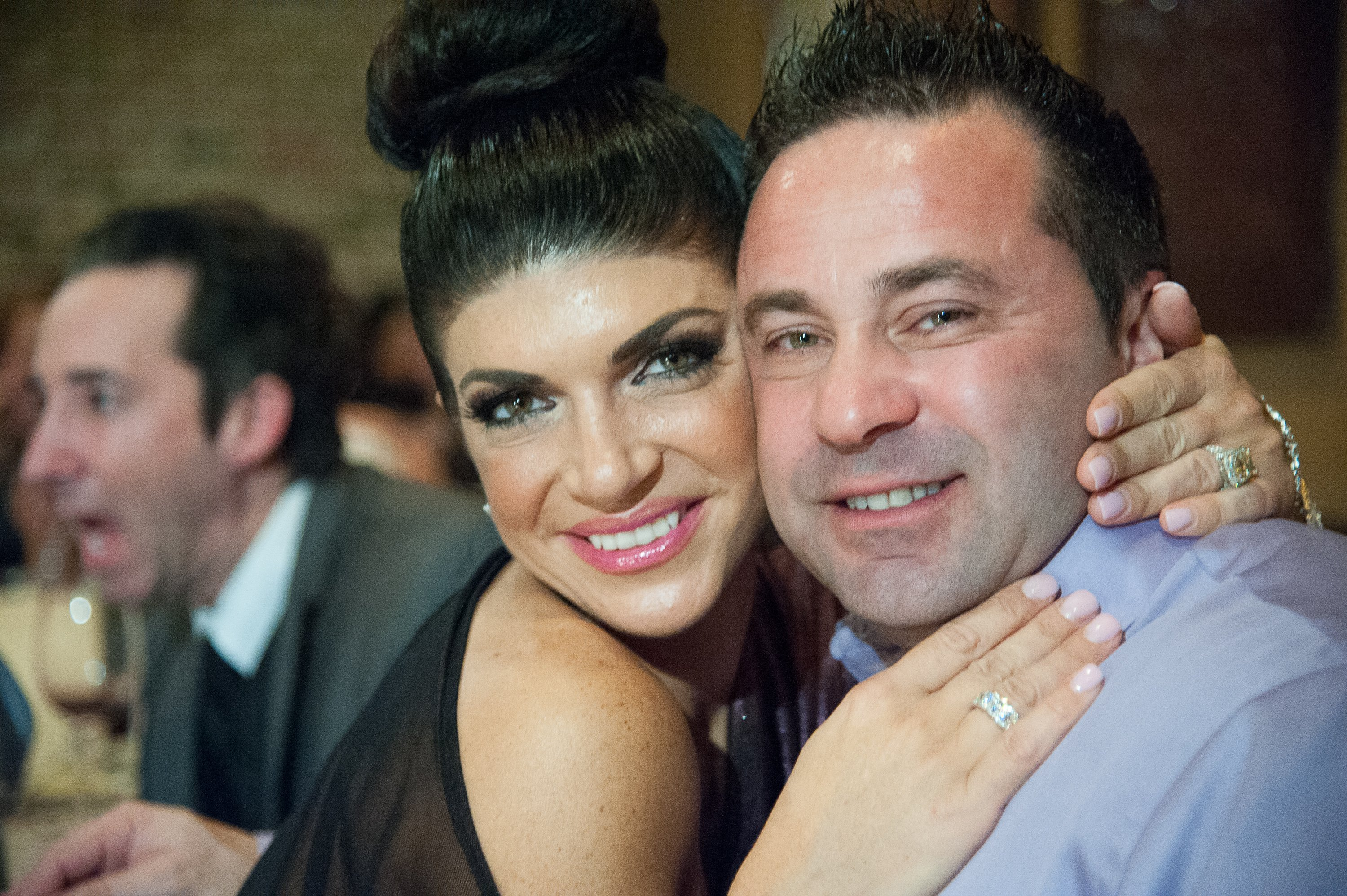 Teresa Giudice and Joe Giudice attend the Posche Fashion show at The Bottagra on December 3, 2012. | Source: Getty Images