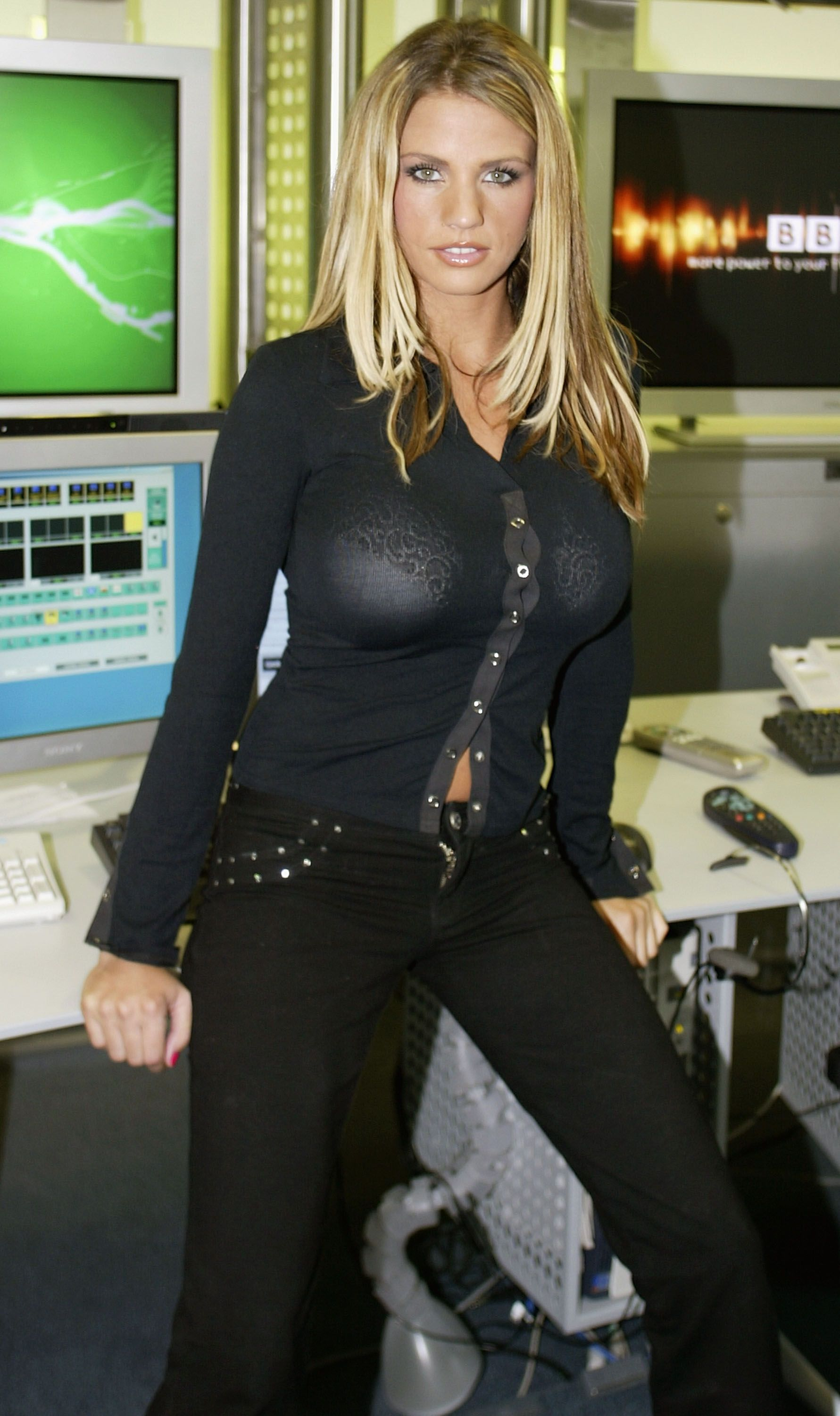 Katie Price at the BBCi studio in 2002 in London, England | Source: Getty Images