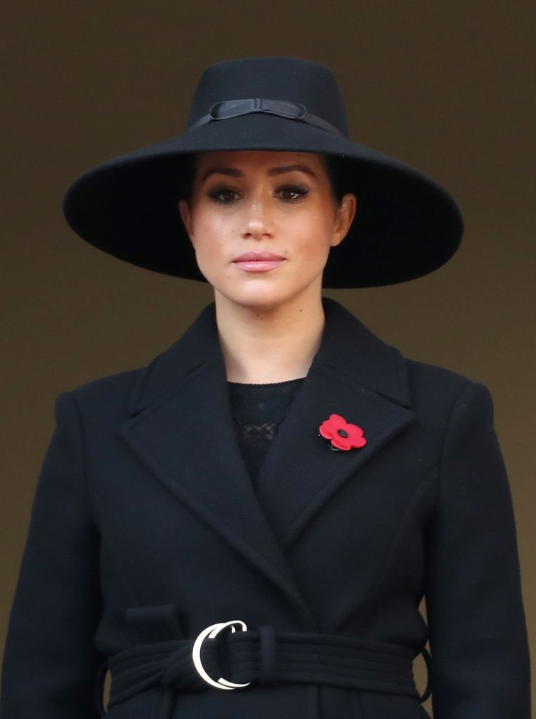 Meghan, Duchess of Sussex attends the annual Remembrance Sunday memorial at The Cenotaph | Photo: Getty Images