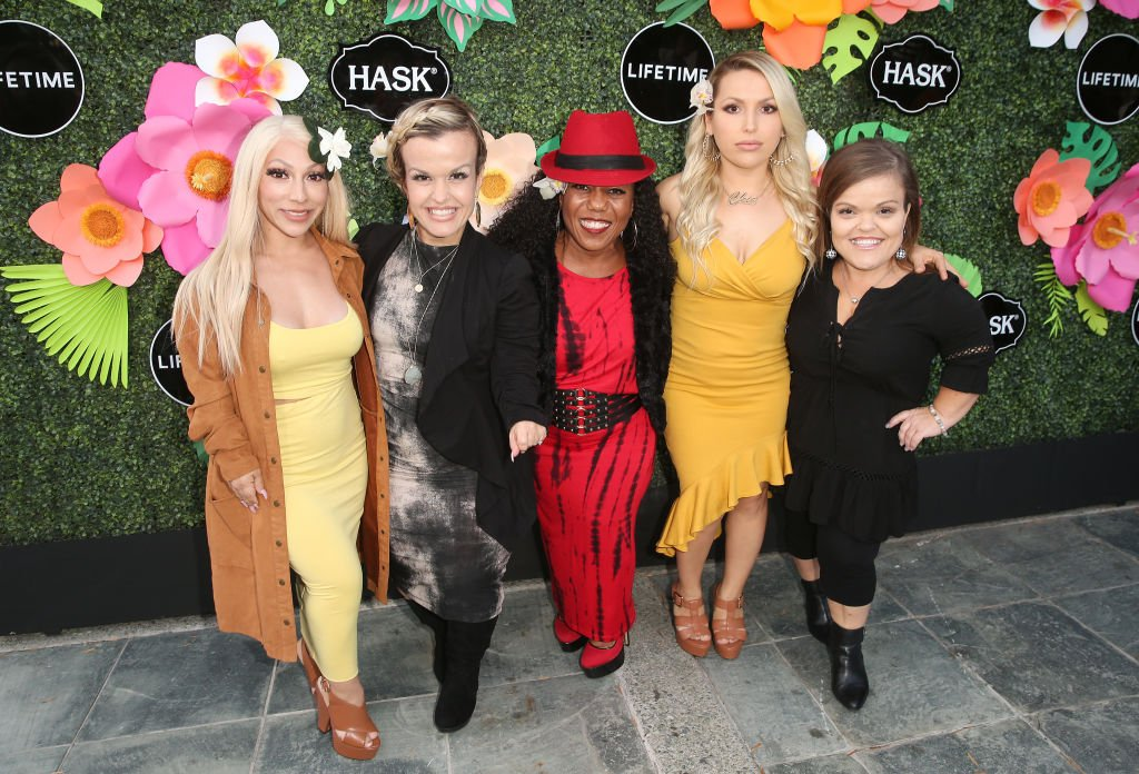 """Casts of """"Little Women: LA"""" at the Lifetime Summer Luau on May 20, 2019 in Los Angeles, California 
