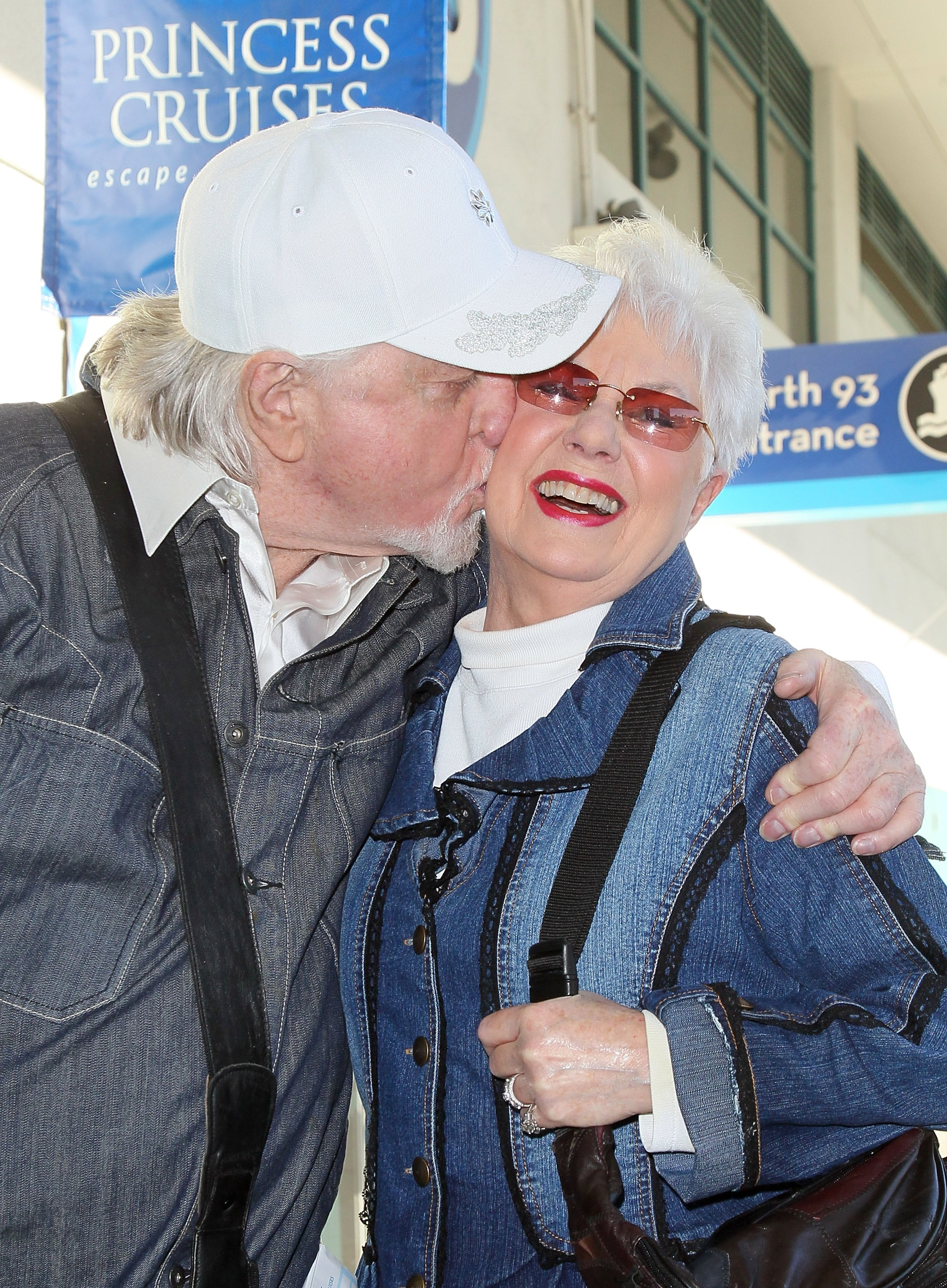 Marty Ingels and Shirley Jones on January 16, 2013 in San Pedro, California | Source: Getty Images