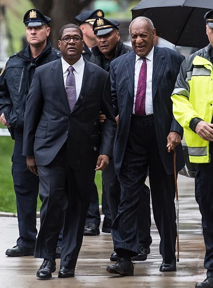 Bill Cosby arriving for sentencing at the Montgomery County Courthouse in Norristown, Pennsylvania | Photo: Getty Images