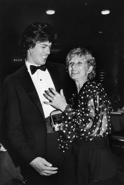 Actress Cloris Leachman (R) attending an Actor's Studio party with her son Bryan Englund (L) | Photo: Getty Images