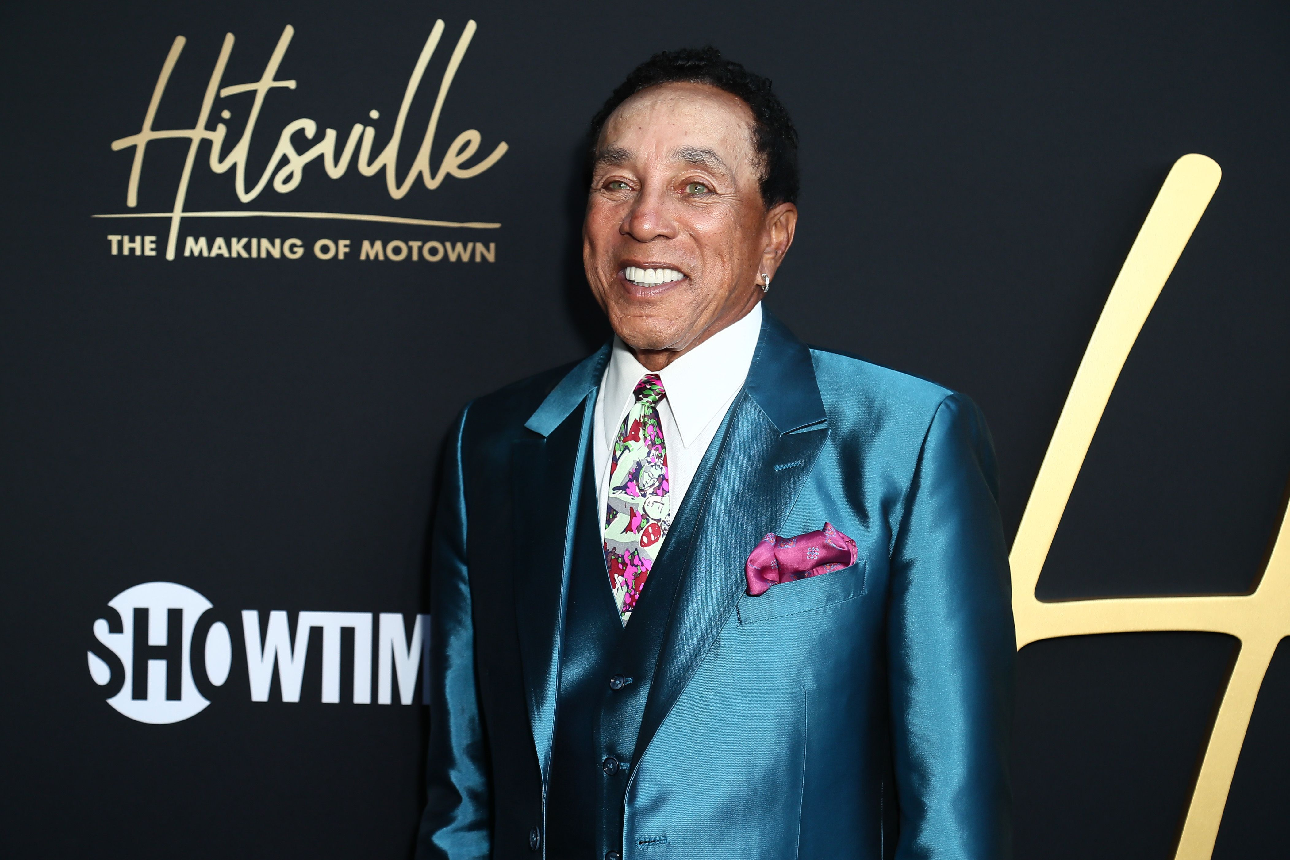 """Smokey Robinson attends the Premiere Of Showtime's """"Hitsville: The Making Of Motown"""" at Harmony Gold on August 08, 2019   Photo: Getty Images"""