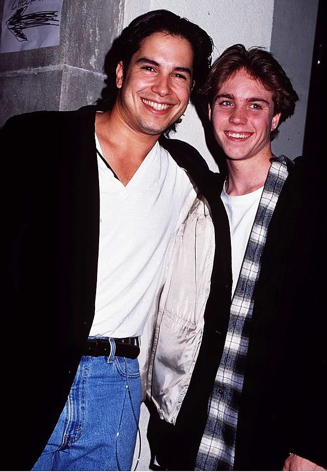 Marco Sanchez and Jonathan Brandis on June 22, 1994 in Hollywood, California | Photo: Getty Images