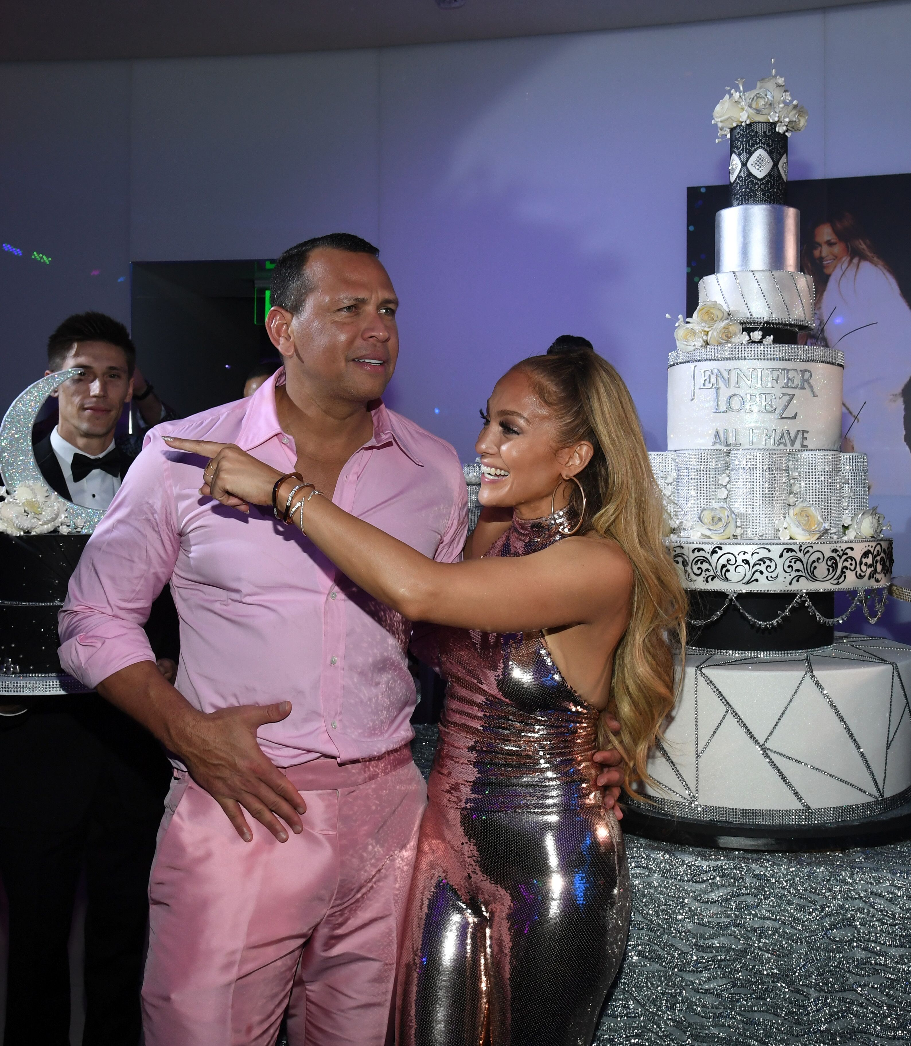 Alex Rodriguez and Jennifer Lopez at the singer's birthday celebration | Source: Getty Images/GlobalImagesUkraine