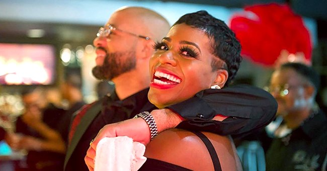 Fantasia Glows in a Tight Black Mini Dress as She Celebrates Her Husband's 40th B-Day (Photos)