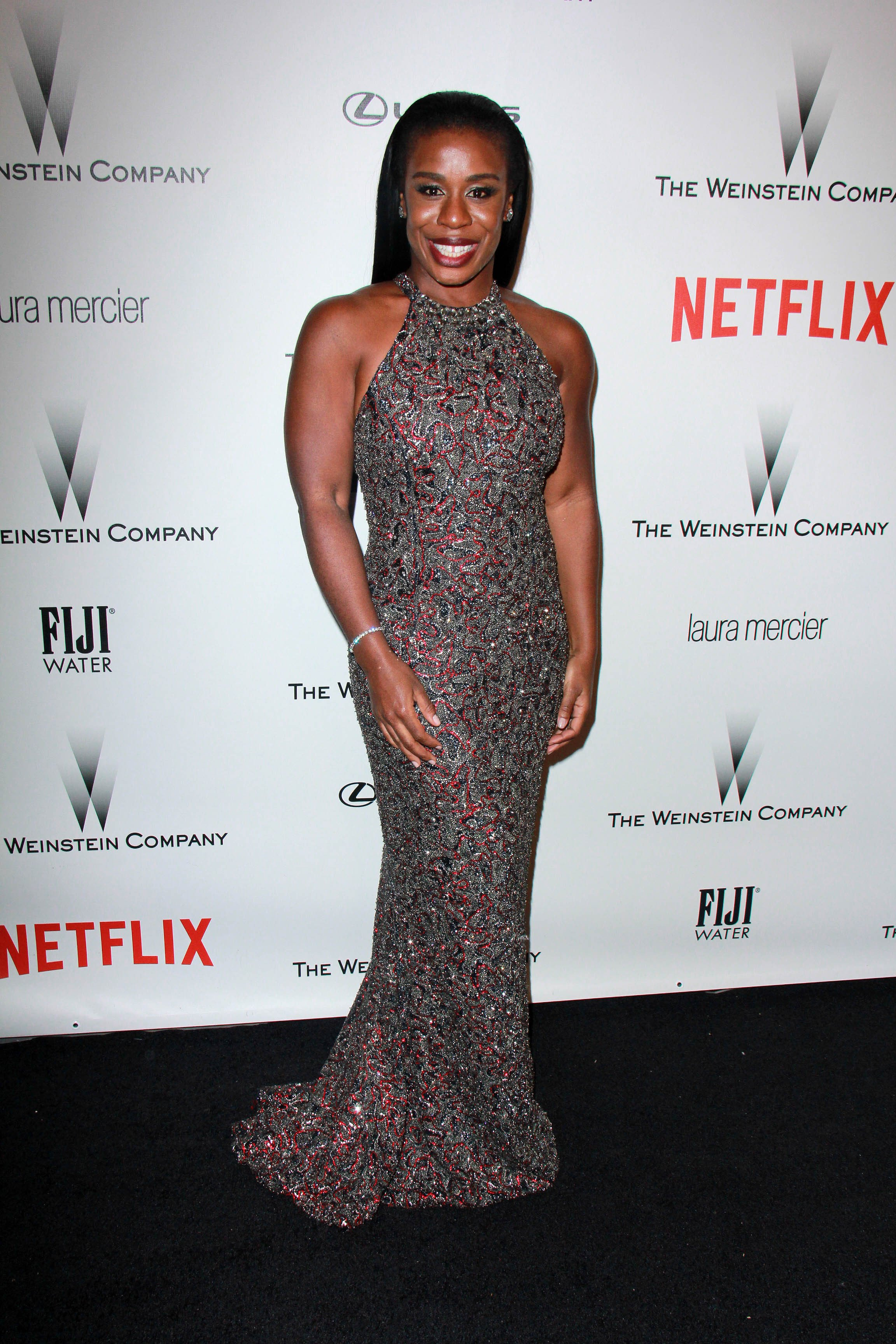 Uzo Aduba at the The Weinstein Company / Netflix Golden Globes After Party at a Beverly Hilton Adjacent on January 11, 2015 in Beverly Hills, California   Photo: Shutterstock