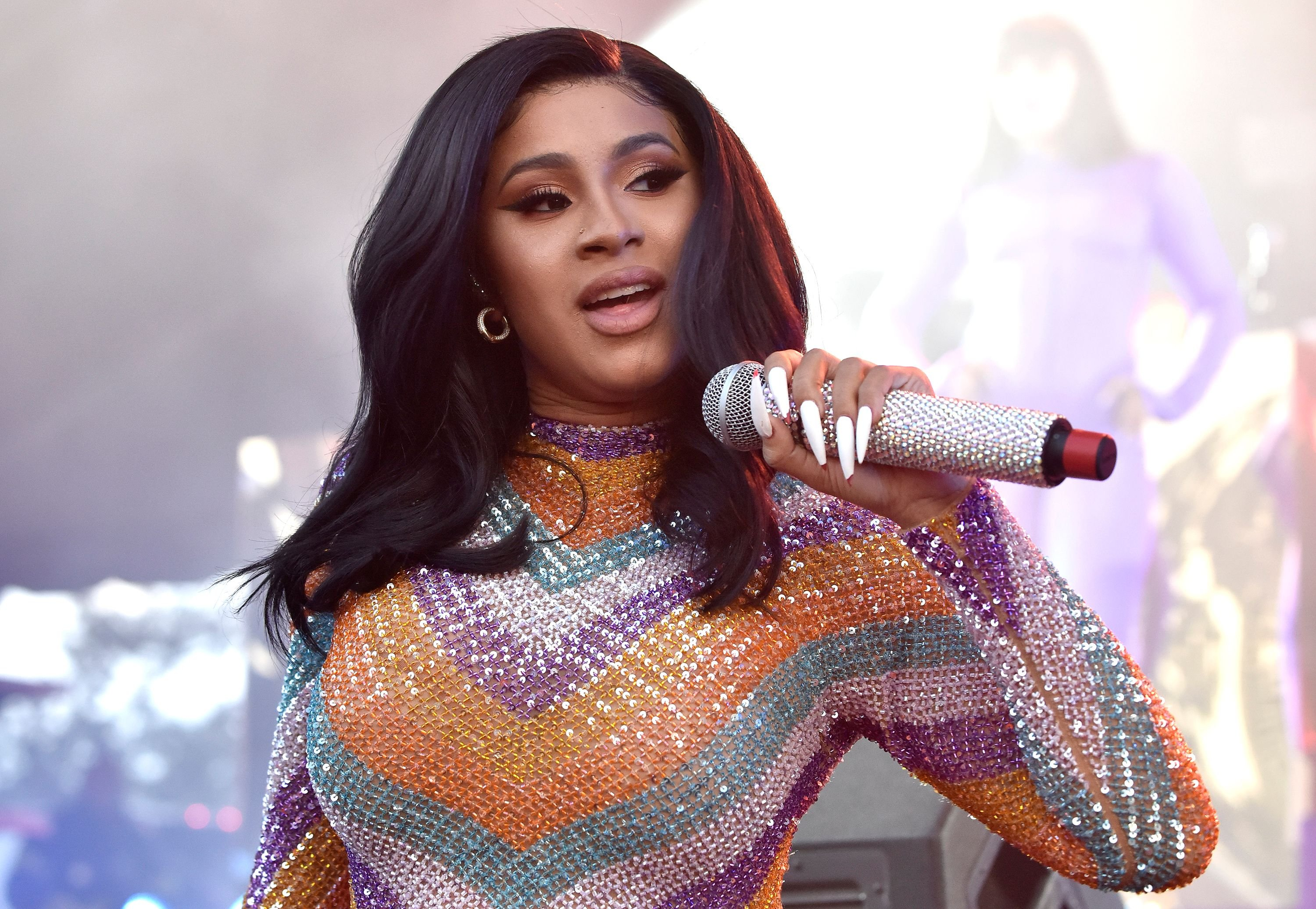 Cardi B performing at the 2019 Bonnaroo Music & Arts Festival on June 16, 2019 | Photo: Getty Images