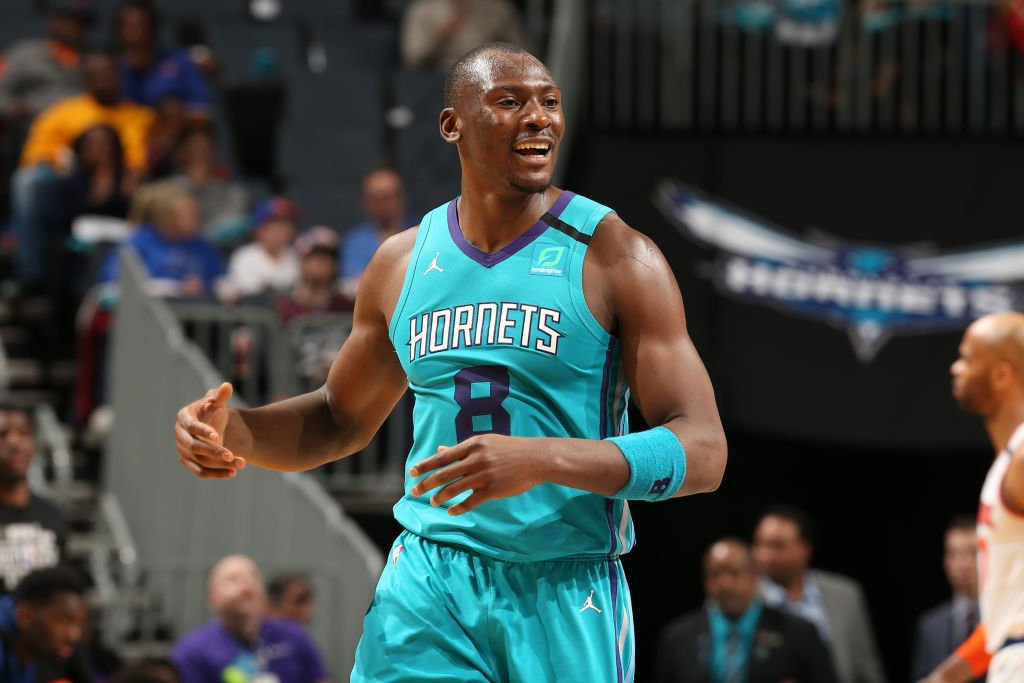 Bismack Biyombo of the Charlotte Hornets looks on during the game against the New York Knicks on February 26, 2020 | Photo: Getty Images