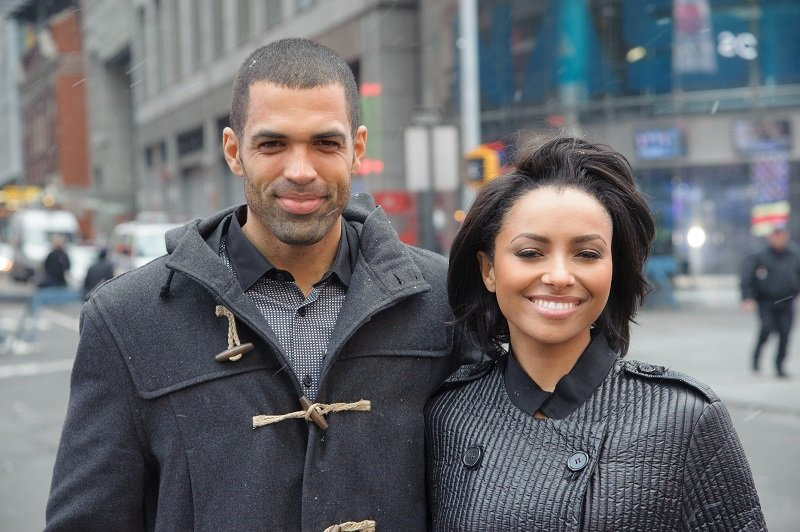 Kat Graham and Cottrell Guidry on December 31, 2013 in New York City   Photo: Getty Images