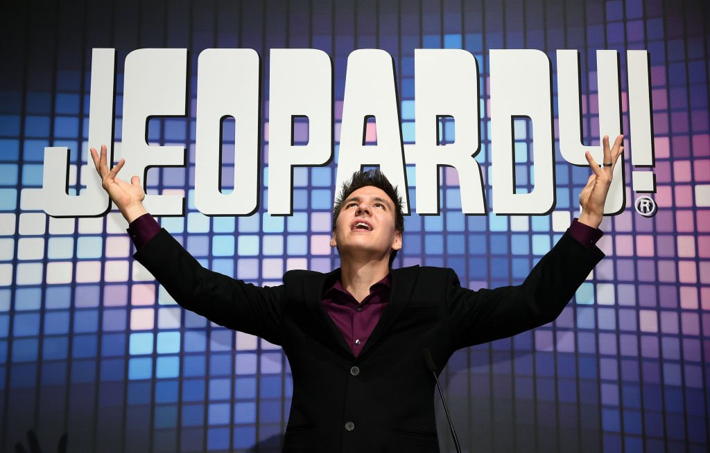 """Former """"Jeopardy!"""" champion James Holzhauer poses at the Sands Expo and Convention Center on October 15, 2019 in Las Vegas, Nevada 