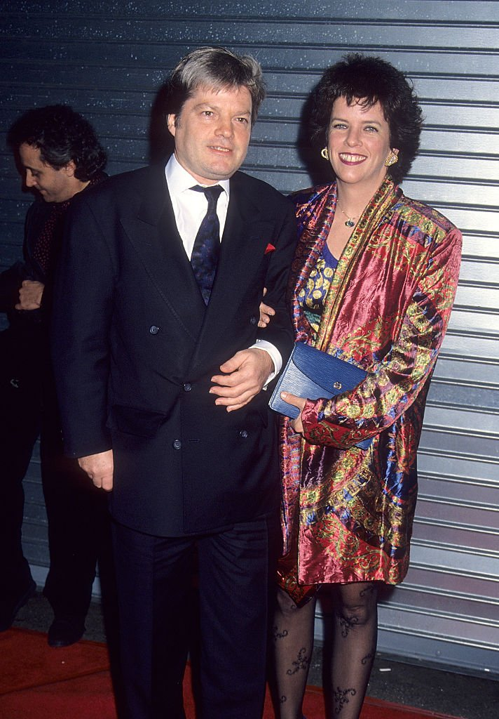 """Producer Ilya Salkind and wife Jane Chaplin attend the """"Chaplin"""" Los Angeles Premiere on December 4, 1992 at the Los Angeles Theatre in Los Angeles, California 