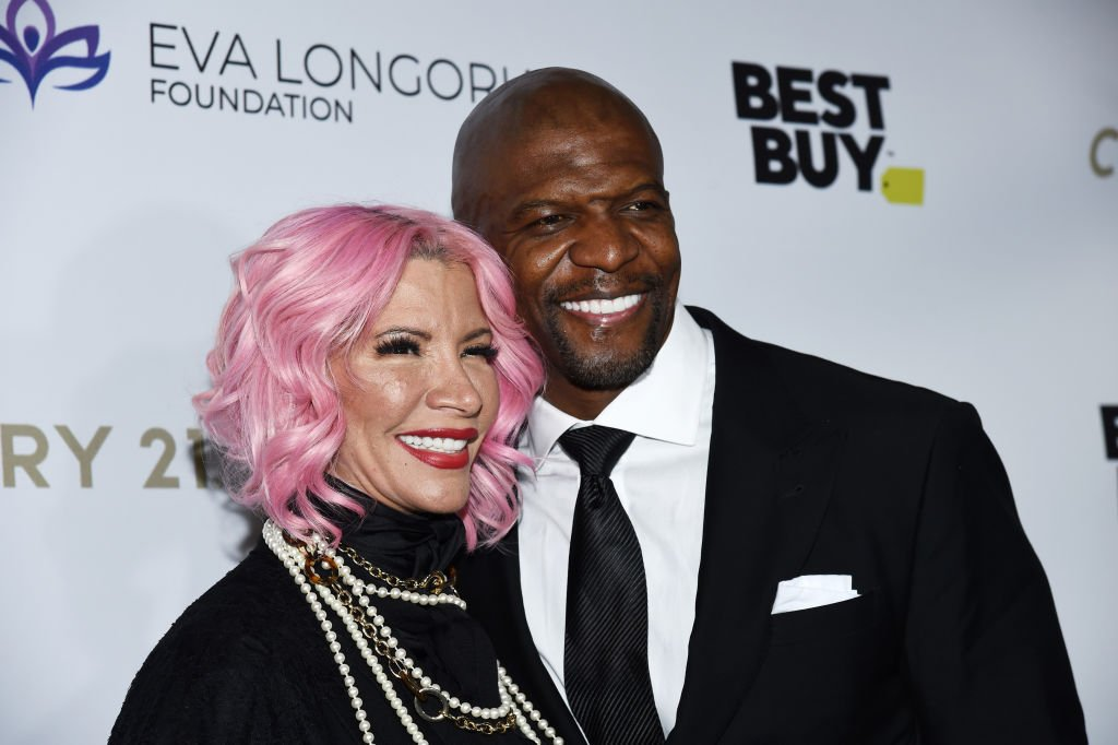 Terry Crews (R) and Rebecca King-Crews arrive at The Eva Longoria Foundation Gala at the Four Seasons Los Angeles at Beverly Hills | Photo: Getty Images