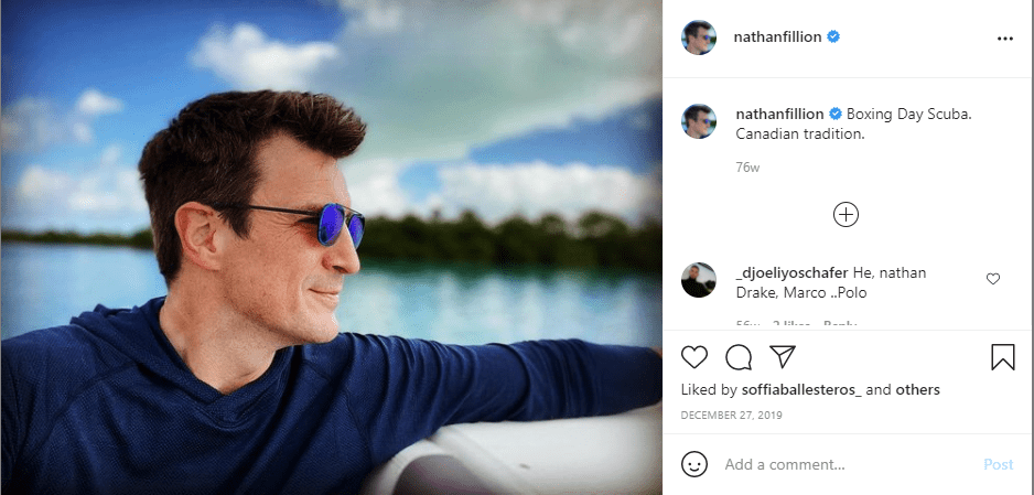 A picture of Nathan Fillion on Instagram | Photo: Instagram/nathanfillion