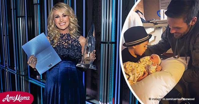 Carrie Underwood shares first photo of her two sons together since giving birth to baby Jacob