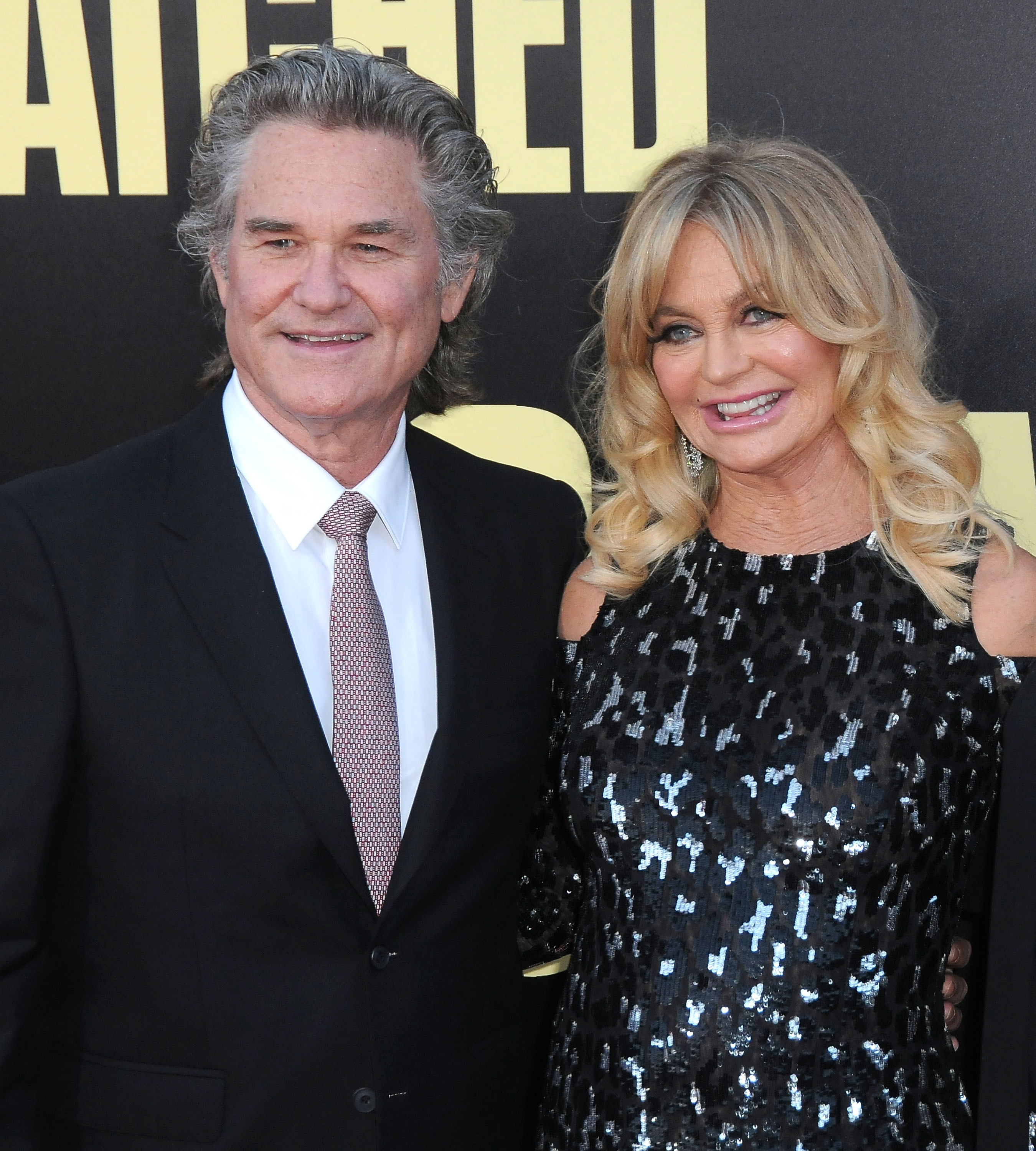 """Kurt Russell and Goldie Hawn attend the premiere of """"Snatched"""" in Westwood, California on May 10, 2017 