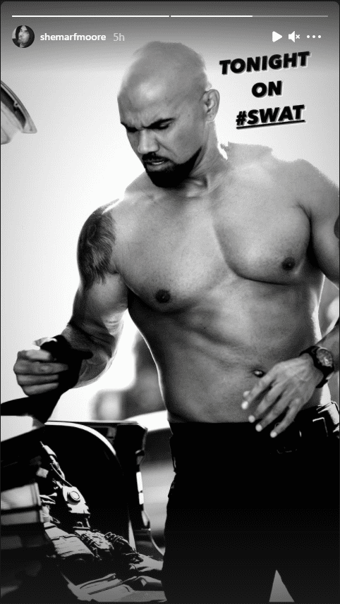"""S.W.A.T."" actor Shemar Moore shows off his ripped physique via his Instagram page. 