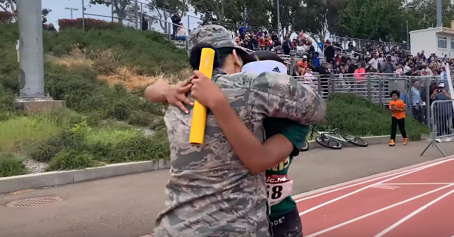It's a Finish Line Reunion When Military Mom Surprises Track Star Teen after 6 Months