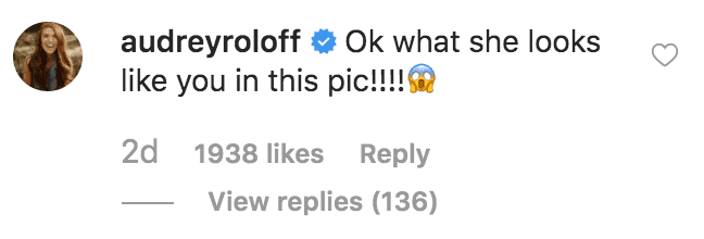 Audrey Roloff comments on a picture of Amy Roloff and her new born granddaughter, Lilah Ray Roloff | Source: Instagram.com/amyjroloff