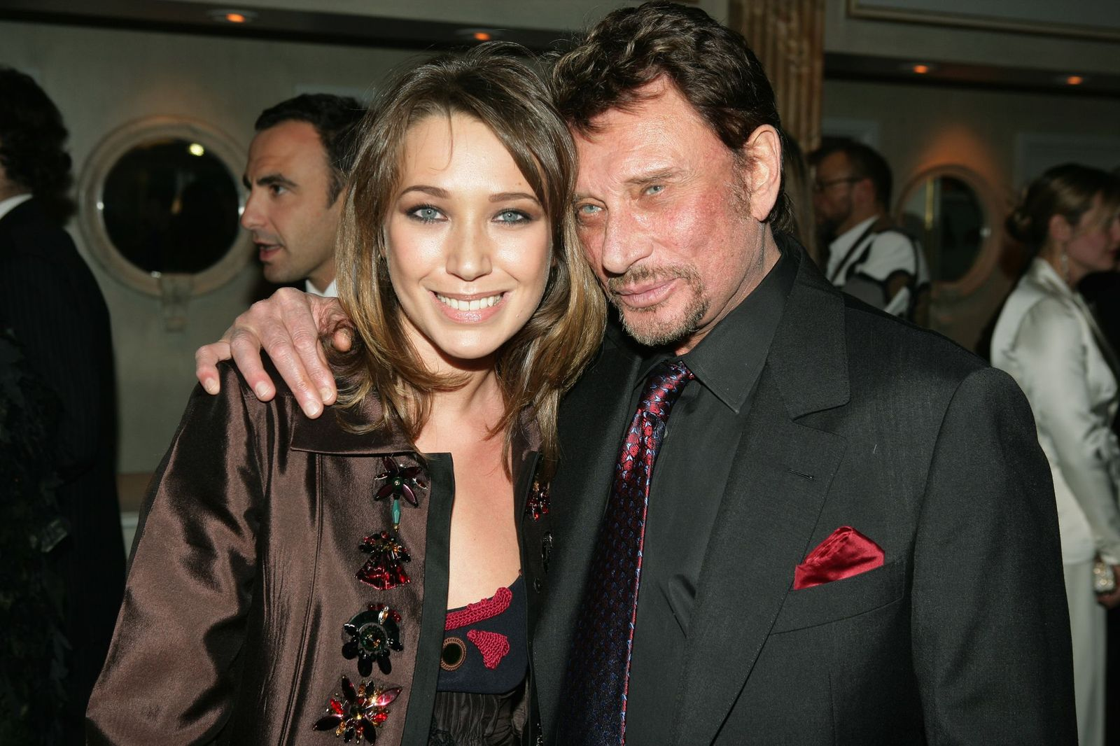 Johnny Hallyday et sa fille Laura Smet | Photo : Getty Images