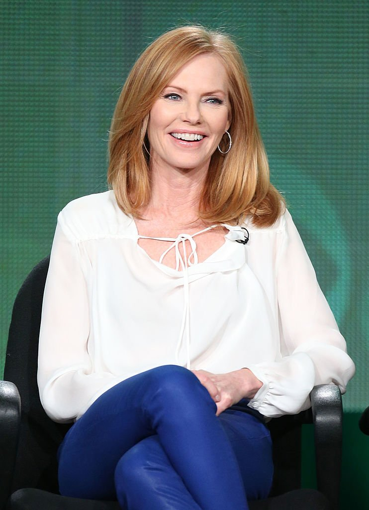 Marg Helgenberger of the television show 'Intelligence' speaks onstage during the CBS portion of the 2014 Winter TCA tour | Getty Images / Global Images Ukraine