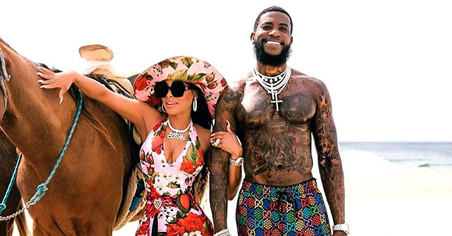 Gucci Mane & Keyshia Ka'oir of 'The Mane Event' Show off Fit Body in Poolside Photo