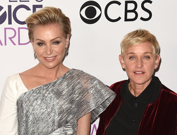 Ellen DeGeneres, Portia de Rossi at the People's Choice Awards in Los Angeles, California.| Photo: Getty Images.