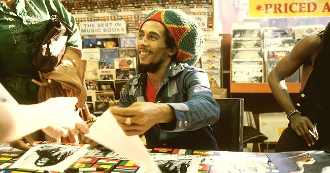 Bob Marley's Son Ziggy & Curly-Haired Grandson Isaiah Wear White in Pic Showing Their Likeness