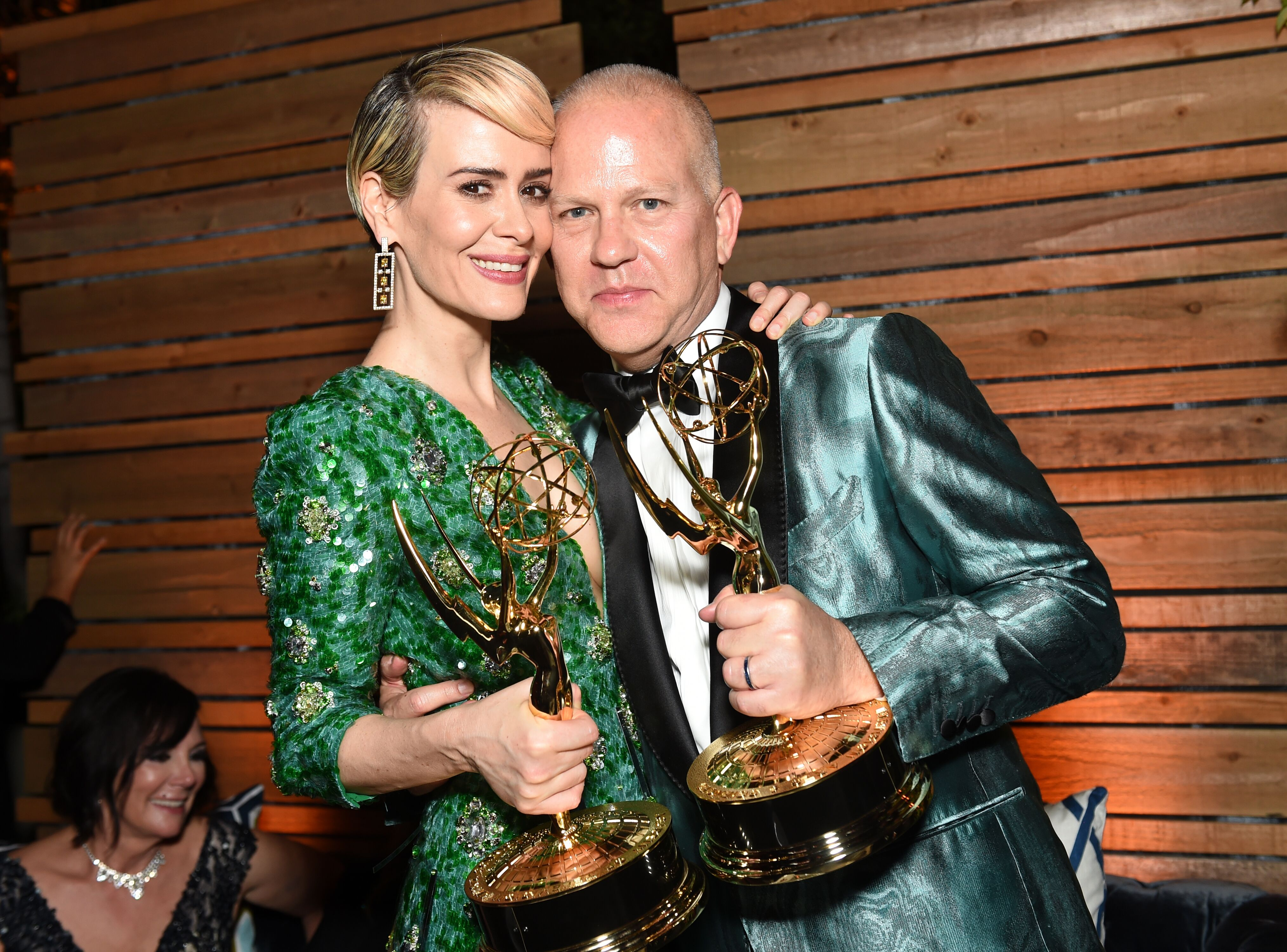Sarah Paulson and Ryan Murphy attends the FOX Broadcasting Company, FX, National Geographic And Twentieth Century Fox Television's 68th Primetime Emmy Awards. | Source: Getty Images