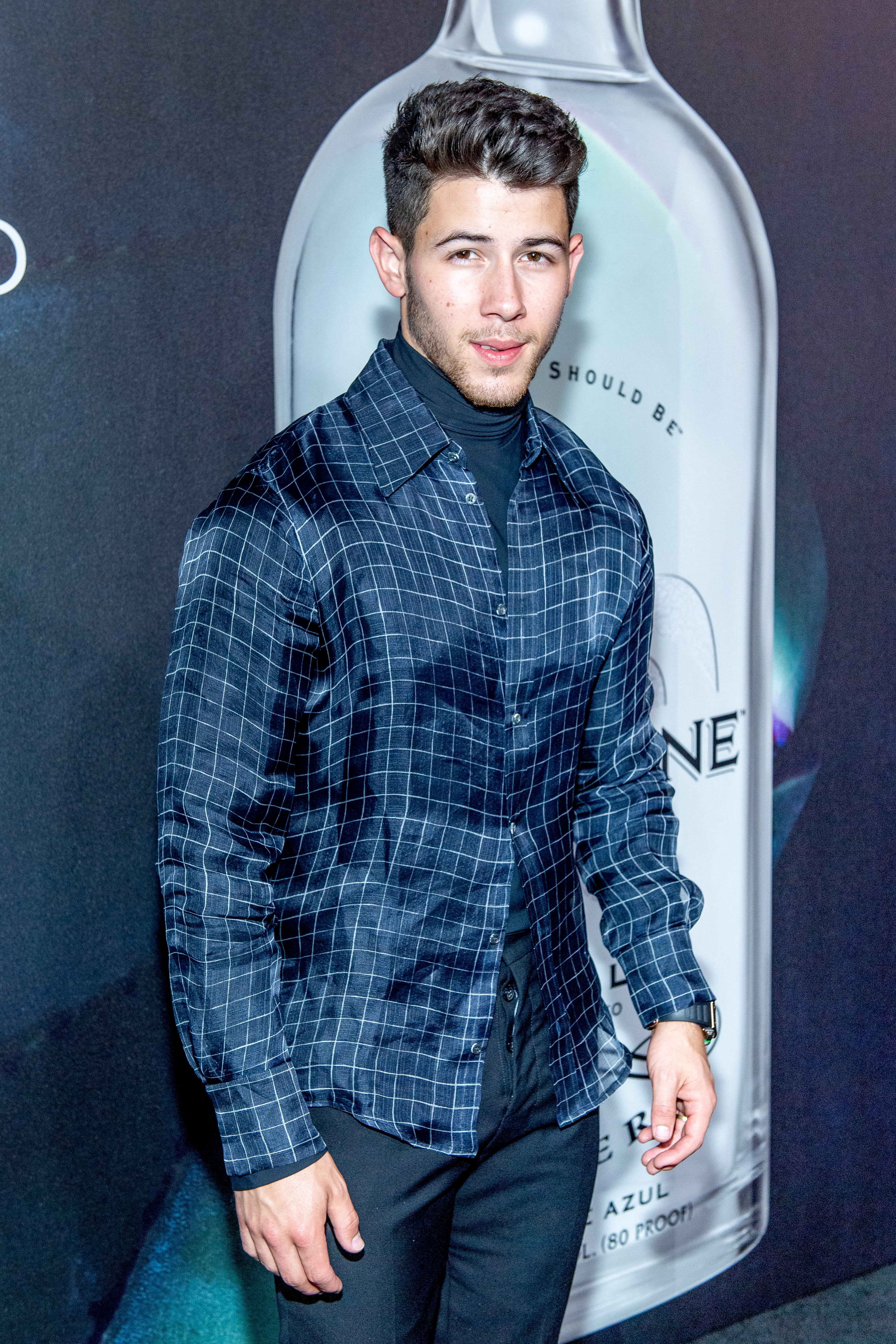 Nick Jonas attends Nick Jonas x John Varvatos Villa One Tequila Launch on August 29, 2019, in New York City.   Source: Getty Images.