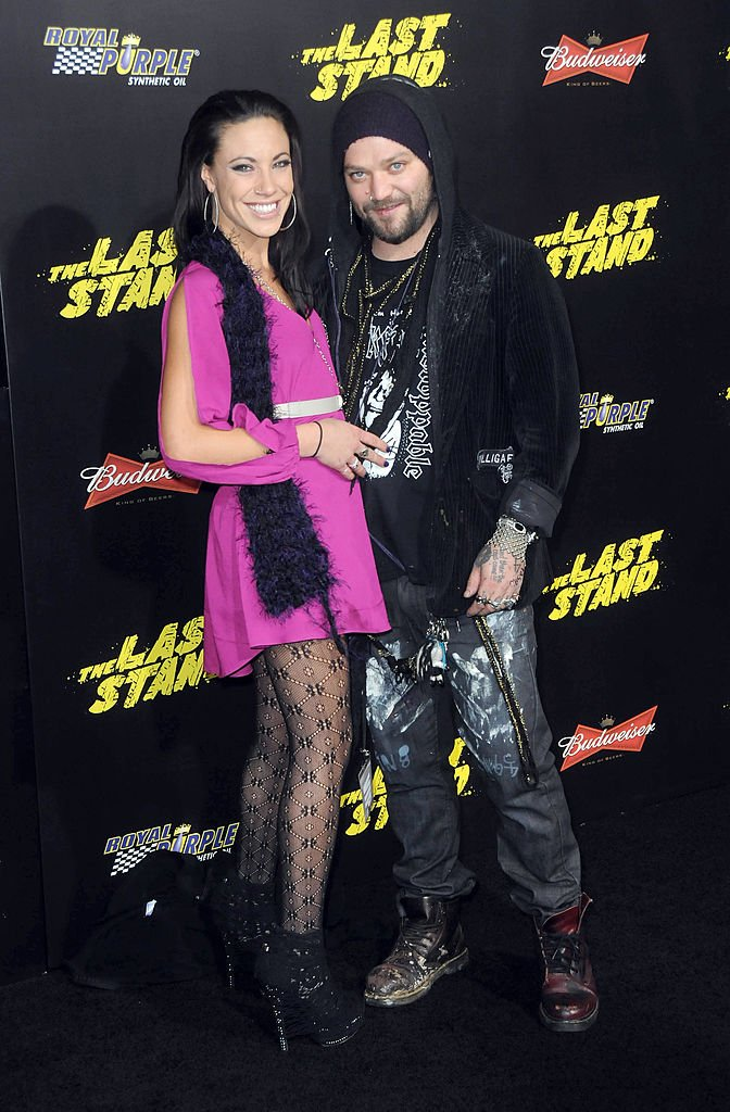 "Bam Margera and Nicole Boyd arrive for The Los Angeles Premiere of ""The Last Stand"" held at Grauman's Chinese Theater on January 14, 2013 