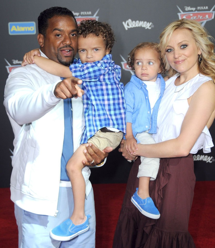 Actor Alfonso Ribeiro, Alfonso Lincoln Ribeiro, Anders Reyn Ribeiro and wife Angela Unkrich attend the World Premiere of Disney and Pixar's 'Cars 3' at Anaheim Convention Center in Anaheim, California | Photo: Getty Images