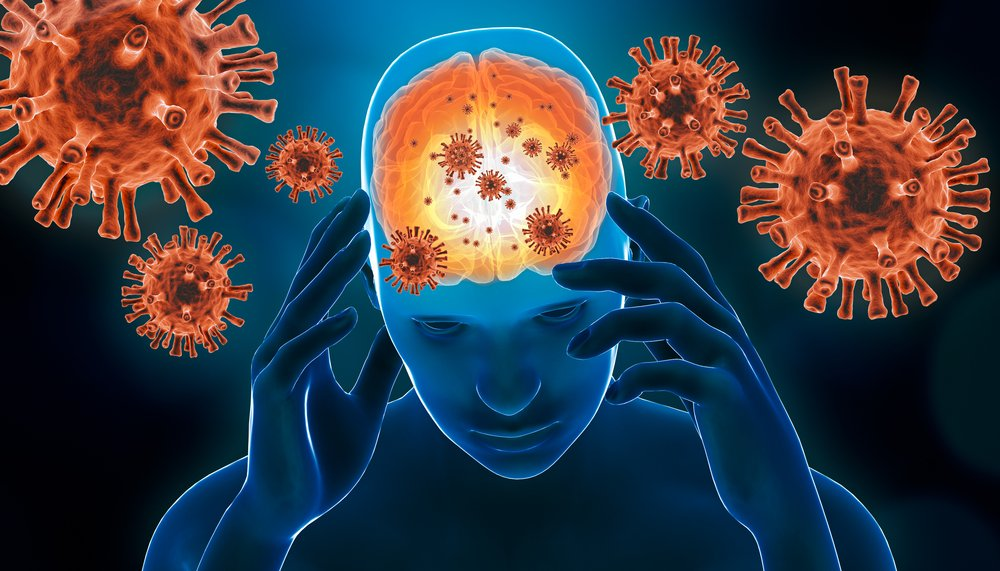 A photo of a 3D representation of a brain viral infection | Photo: Shutterstock