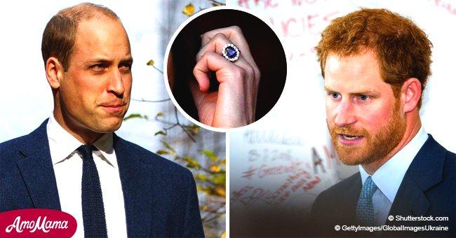 """Le prince Harry a pensé qu'il était """"approprié"""" pour William de demander Kate en mariage avec une bague de la princesse Diana"""
