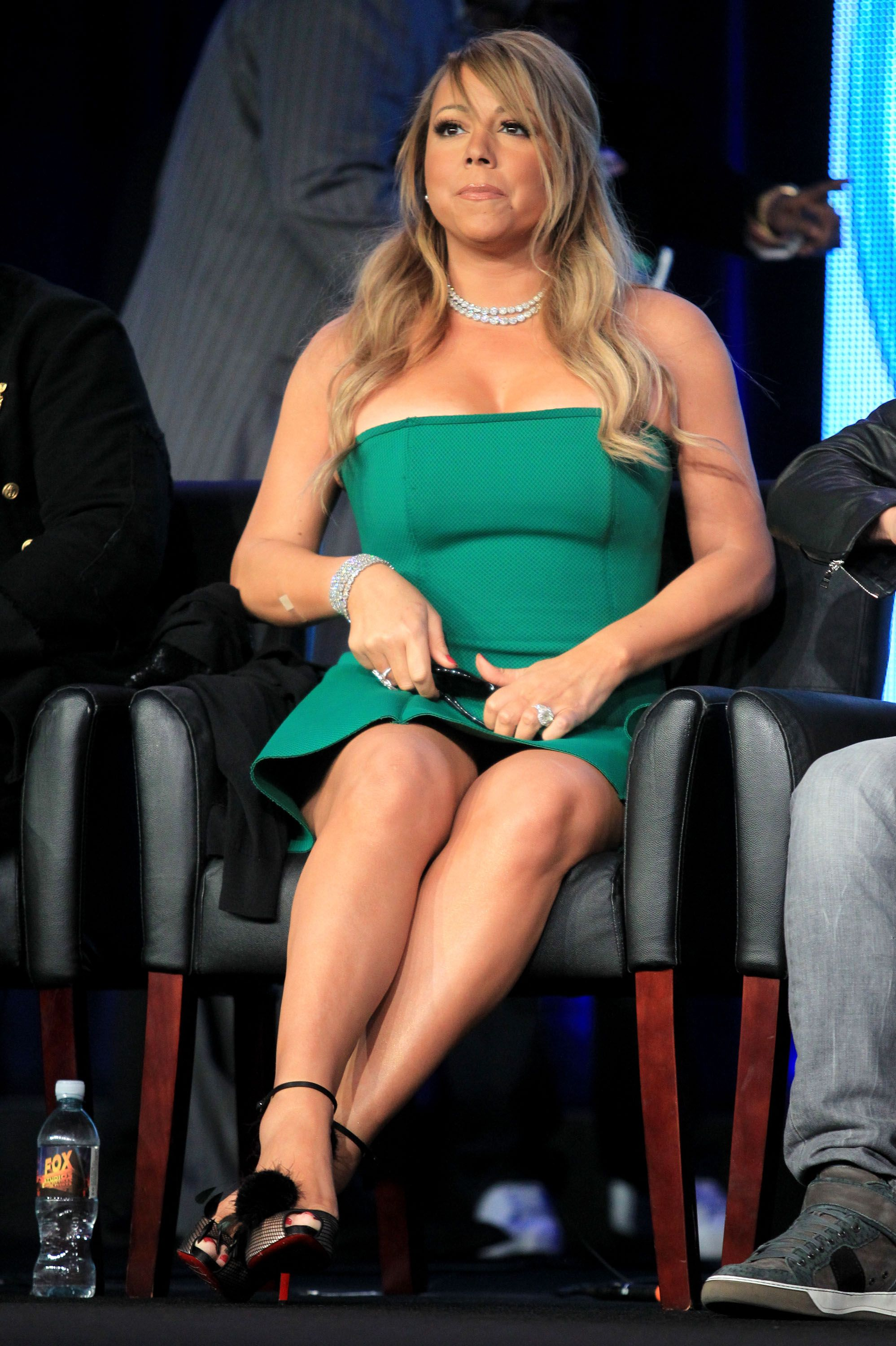 Mariah Carey during the FOX portion of the 2013 Winter TCA Tour at Langham Hotel on January 8, 2013 in Pasadena, California. | Source: Getty Images