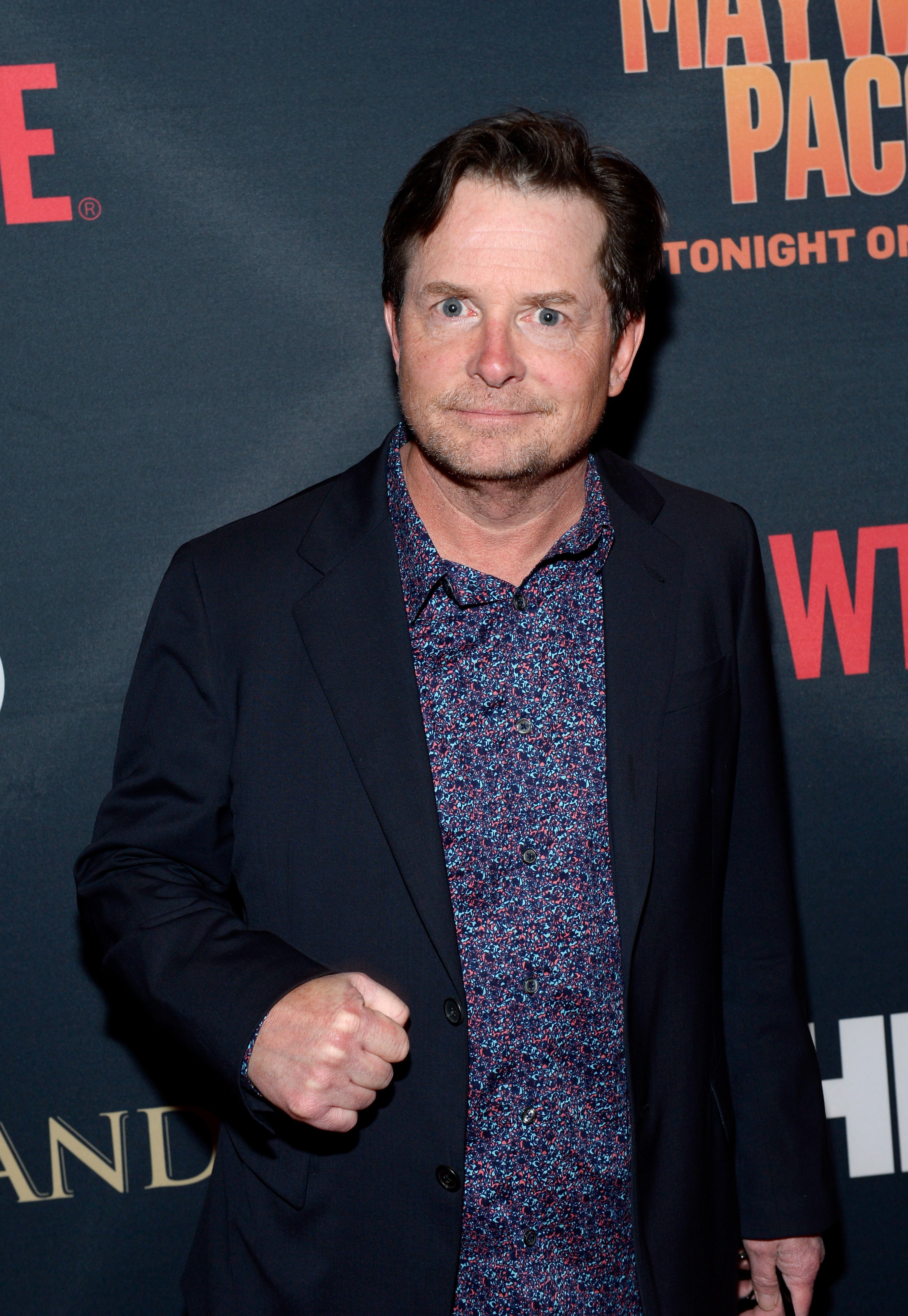 """Michael J. Fox at the SHOWTIME And HBO VIP Pre-Fight Party for """"Mayweather VS Pacquiao"""" at MGM Grand Hotel & Casino on May 2, 2015. 