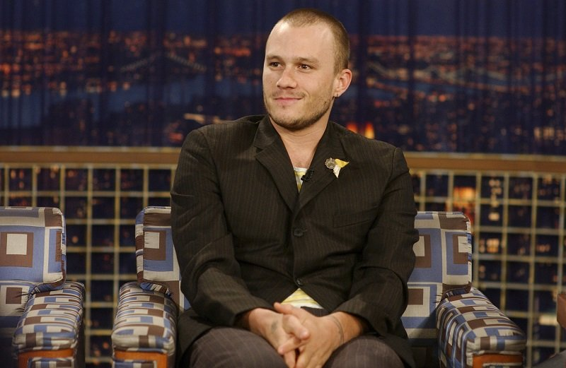 "Heath Ledger at ""Late Night with Conan O'Brien"" on August 19, 2005 