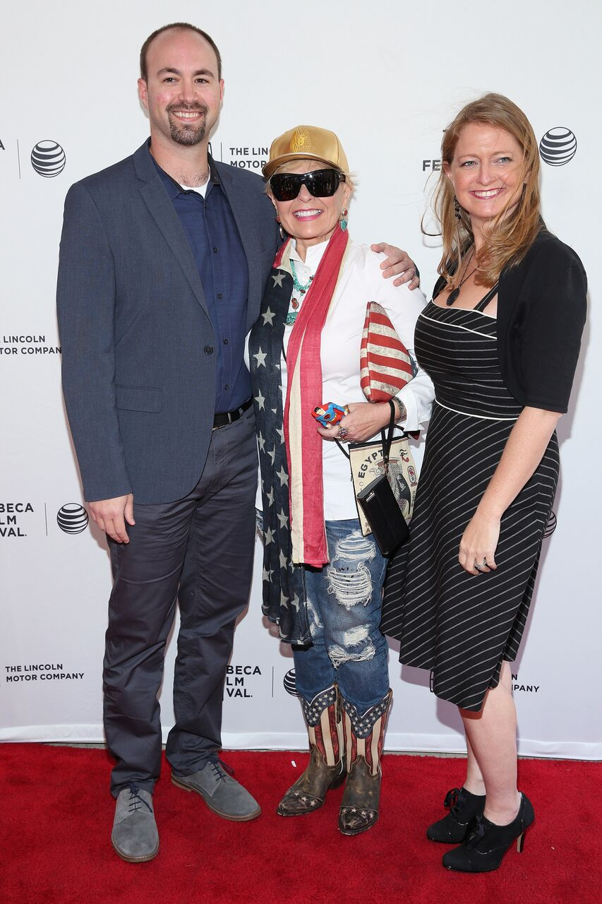 Roseanne Barr  and children Jake Pentland and Brandi Brown attend the world premiere of documentary: 'Roseanne For President!' during the 2015 Tribeca Film Festival. | Source: Getty Images