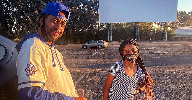 Jaleel White of 'Family Matters' and His Daughter Samaya Visit Drive-in Movie Theater