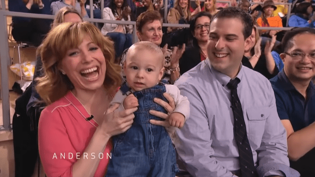 """Eve Behar, her husband, and her on the """"Anderson"""" show in 2011 