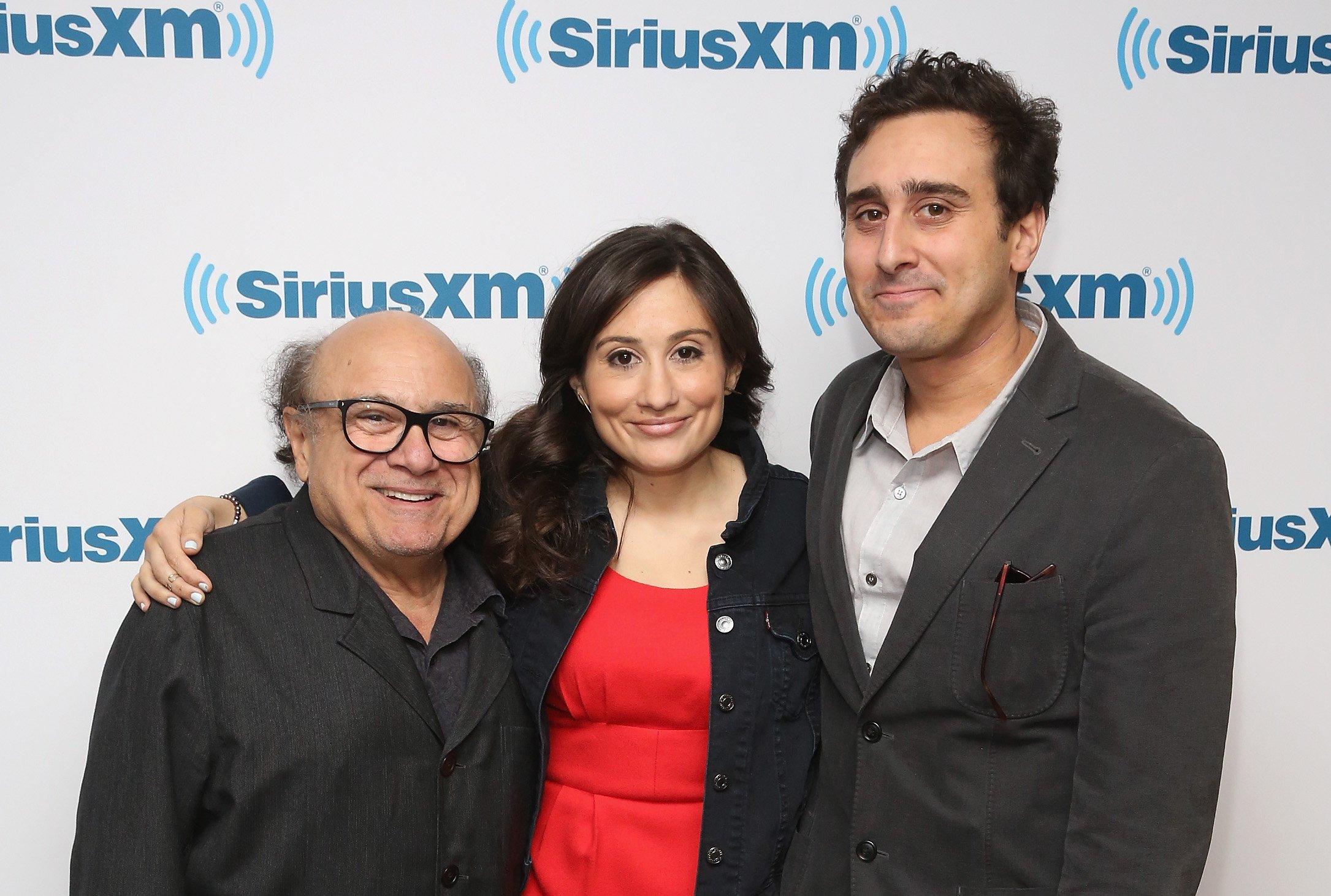 Danny DeVito, Lucy DeVito and Jake DeVito visit at SiriusXM Studio on April 18, 2016. | Source: Getty Images