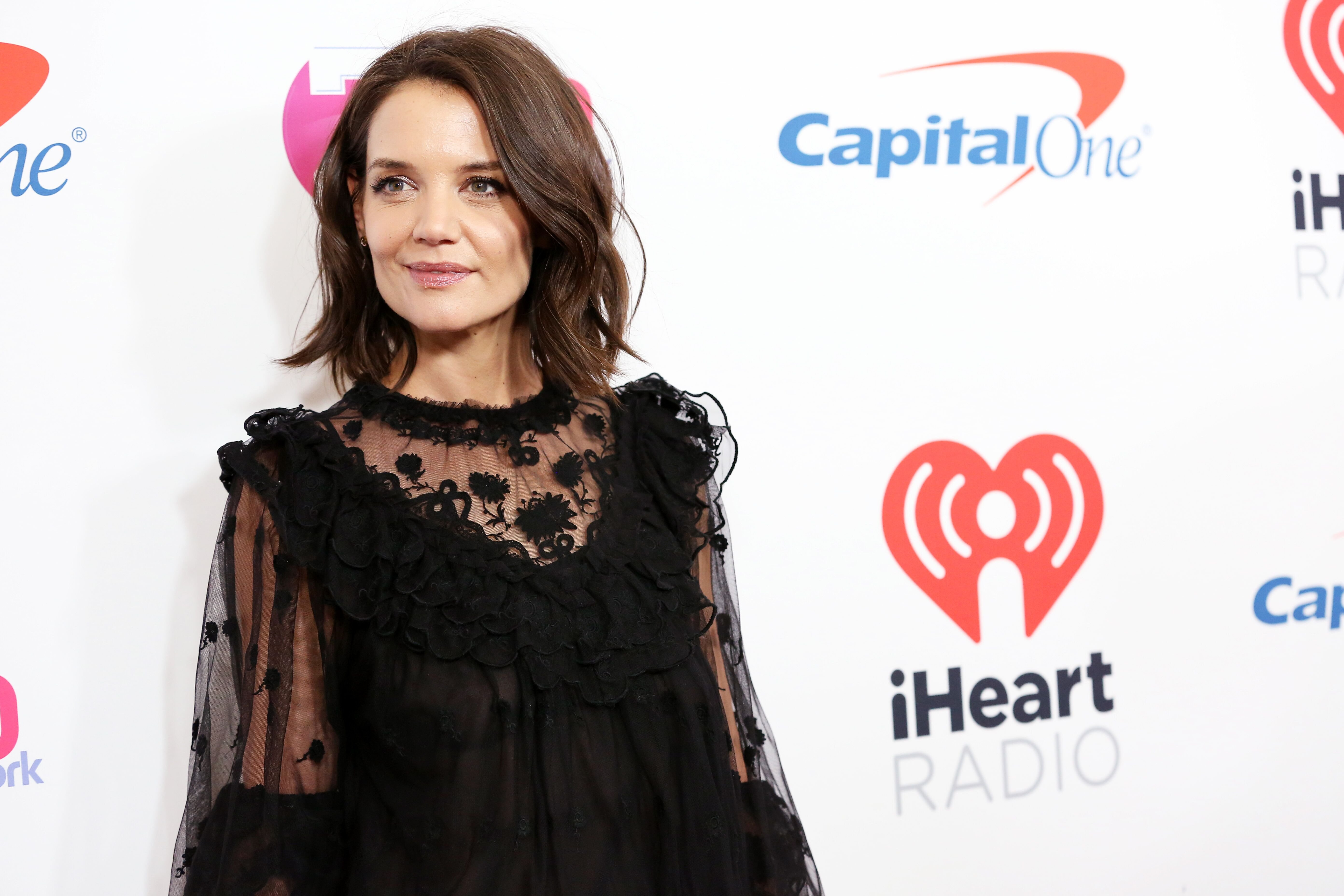 Katie Holmes attends Z100's Jingle Ball 2018 at Madison Square Garden. | Source: Getty Images