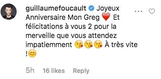 Guillaume Foucault souhaite un joyeux anniversaire à Grégoire Lyonnet. | Capture d'écran Instagram/gregoirelyonnet