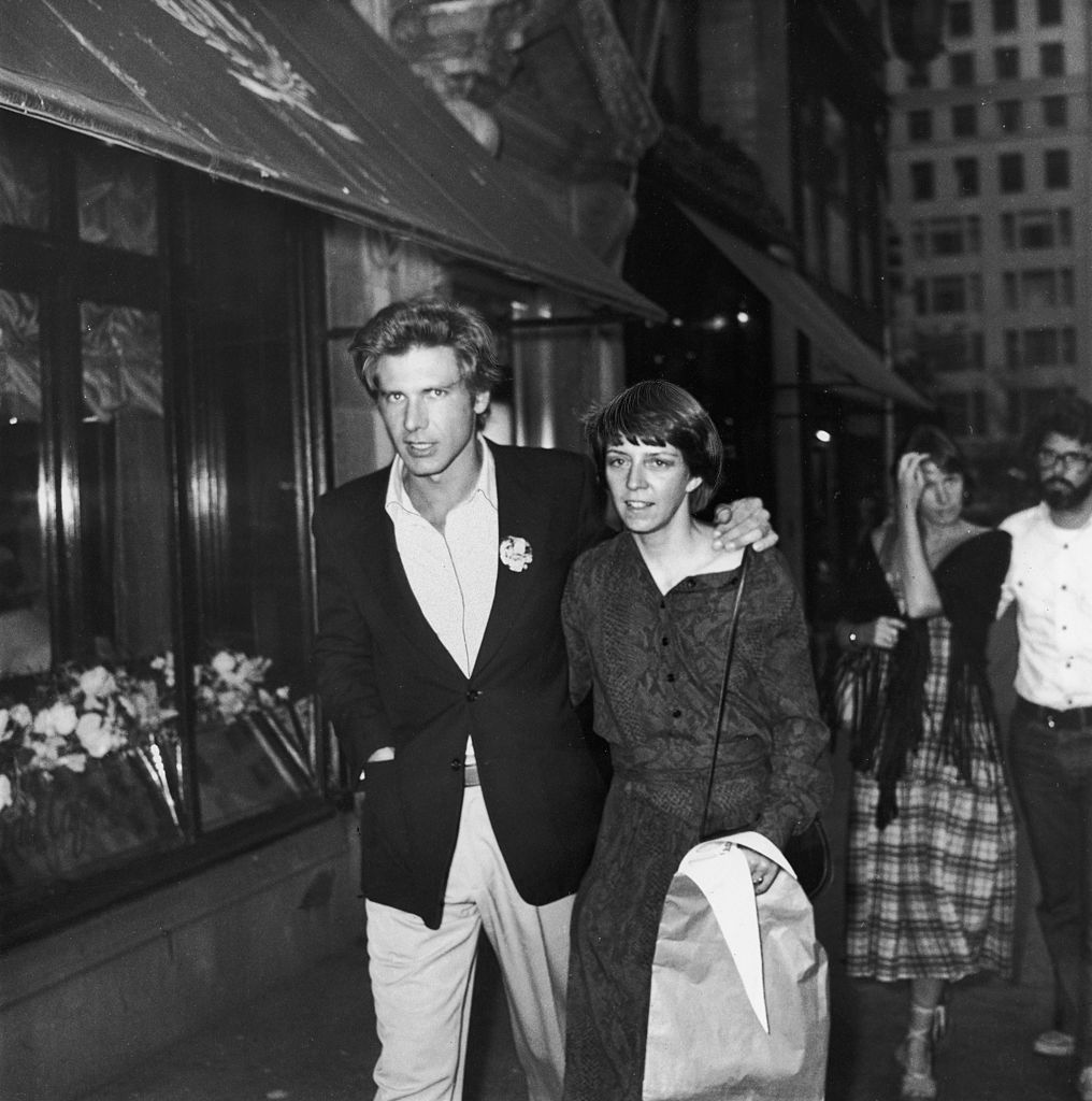 Harrison Ford and wife, Mary Marquardt, walking in New York City. | Getty Images