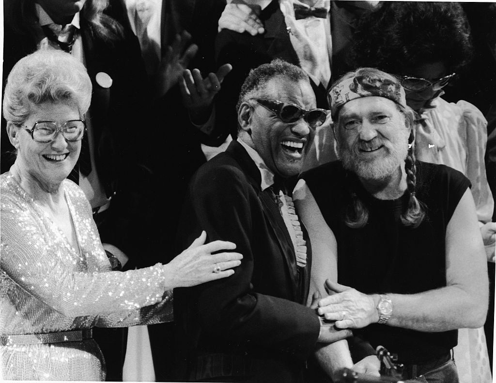 Minnie Pearl, Ray Charles, Willie Nelson. 1980s. Image Credit: Getty Images