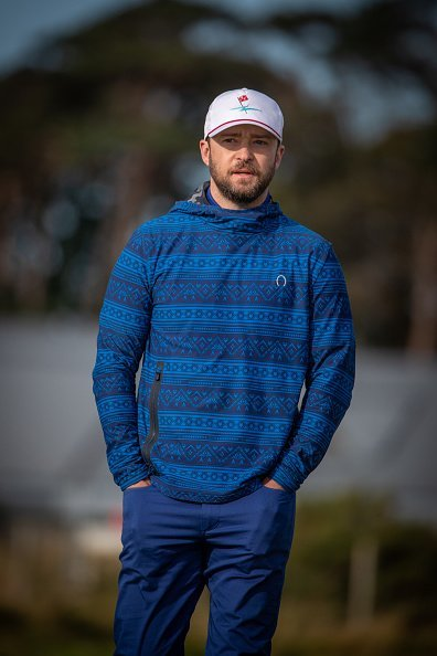 Justin Timberlake at the Alfred Dunhill Links Championship at St Andrews.  Photo:Getty Images