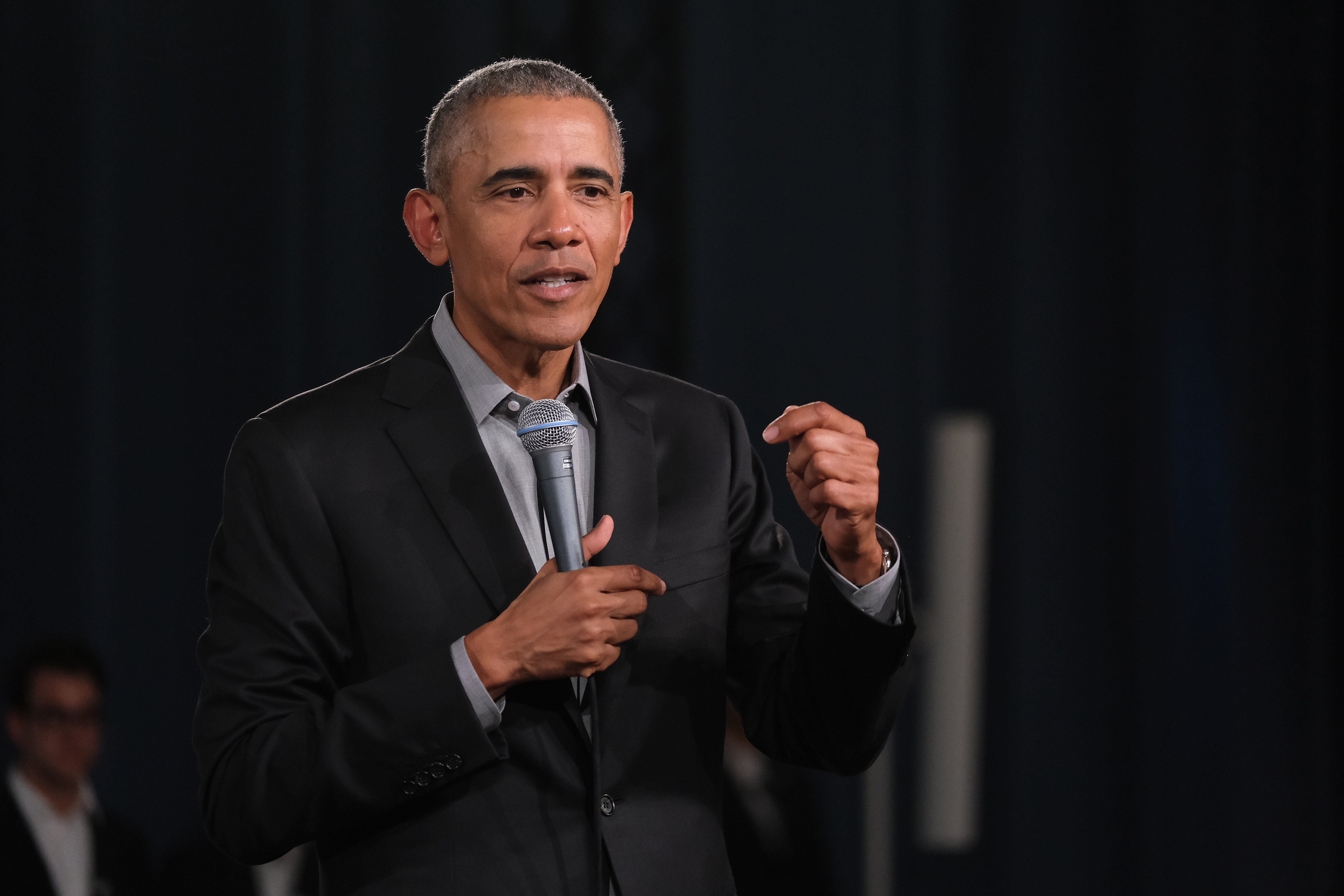 Former U.S. President Barack Obama at a Town Hall-styled session on Apr. 06, 2019 in Berlin, Germany | Photo: Getty Images